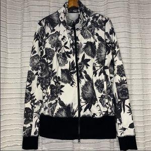 Lululemon Nice Asana Jacket Brisk Bloom Black 10